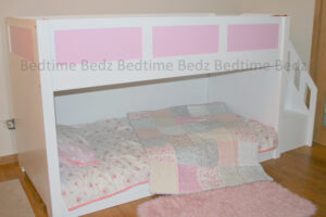 Dinky Staircase Bunk Pink Panels 1